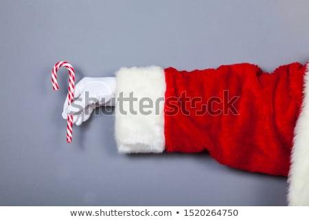 kerstman · snoep · riet · geïsoleerd · witte - stockfoto © nikodzhi
