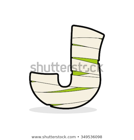 Letter J Mummy. Typography icon in bandages. Horrible Egyptian e Stock photo © popaukropa