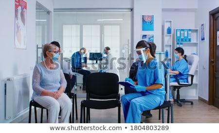 médicos · espera · alimentos · café · médicos · de · trabajo - foto stock © is2