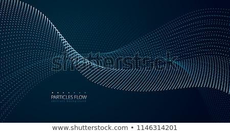 Azul néon partícula tecnologia digital movimento Foto stock © SArts