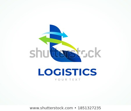 Foto d'archivio: Abstract Arrow Logistic Delivery Courier Transport Service Logo