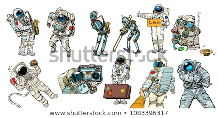 Set collection astronauts and robots Stock photo © studiostoks