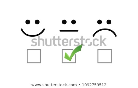 okay face check mark selection illustration options graphics. Stock photo © alexmillos