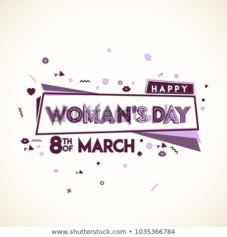 Happy Womens Day Illustration with Abstract 8 March Typography Letter on Pink Background. Vector Spr Stock photo © articular