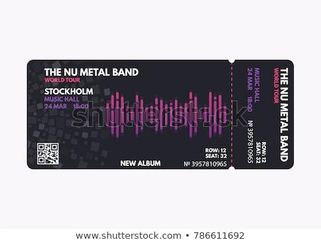 Сток-фото: черный · рок · концерта · билета · дизайн · шаблона · гитаре