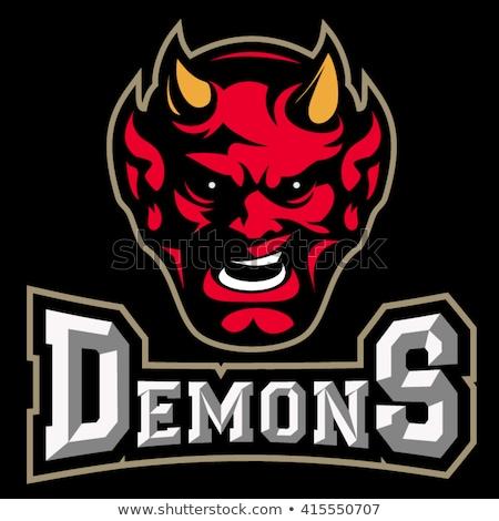 Diabo americano futebol esportes mascote Foto stock © Krisdog