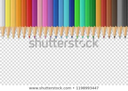 セット · 鉛筆 · ベクトル · 木材 · 学校 - ストックフォト © articular