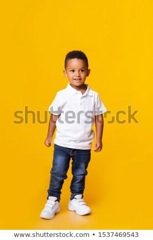Portre çok güzel komik küçük erkek ayakta Stok fotoğraf © Traimak