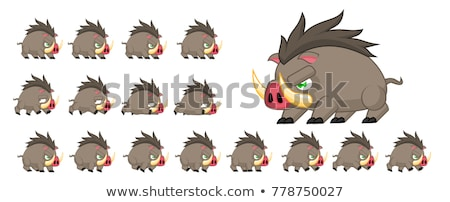 Sprite Sheets bear jumping Stock photo © bluering