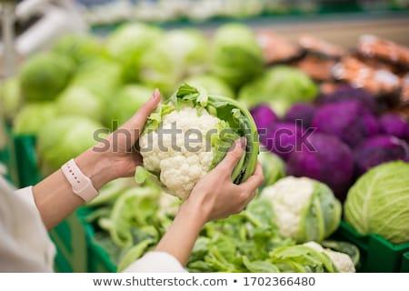 Piac közelkép friss csoport fehér mezőgazdaság Stock fotó © boggy