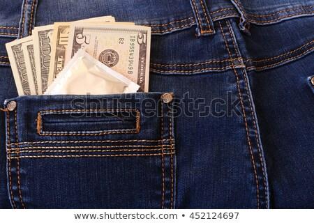 Condoom jeans zak seks mannen Rood Stockfoto © FOKA