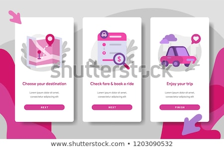 On boarding screens for mobile app templates concept. Creativity, think outside, innovation. Vector  Stock photo © makyzz