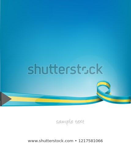 Багамские острова лента флаг Blue Sky аннотация дизайна Сток-фото © doomko