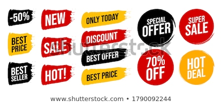 hot price and super offer set vector illustration stock photo © robuart