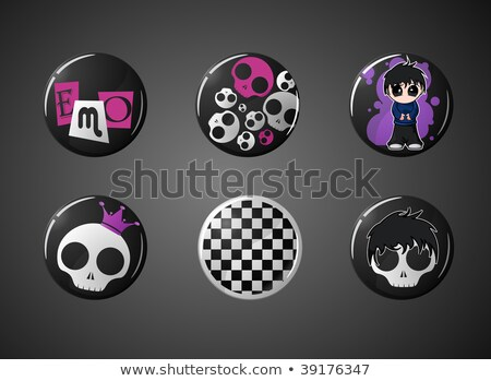 рок панк культура набор электрической гитаре Сток-фото © robuart
