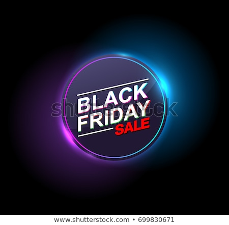Abstrato black friday néon luz efeito projeto Foto stock © SArts