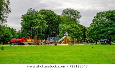 Speeltuin stad park bouw metaal zomer Stockfoto © g215