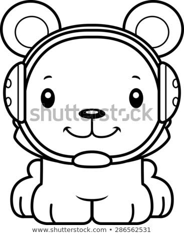 Cartoon souriant lutteur ours heureux sport Photo stock © cthoman