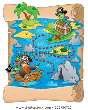 Pergamino pirata loro agua papel mar Foto stock © clairev