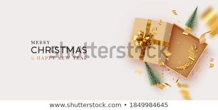 Stockfoto: Opening · christmas · geschenken · mooie · vrouw · genieten