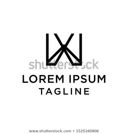 черный письме логотип икона дизайна Сток-фото © blaskorizov