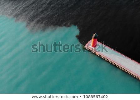 Wody zanieczyszczenia miejskich miasta ilustracja niebo Zdjęcia stock © bluering