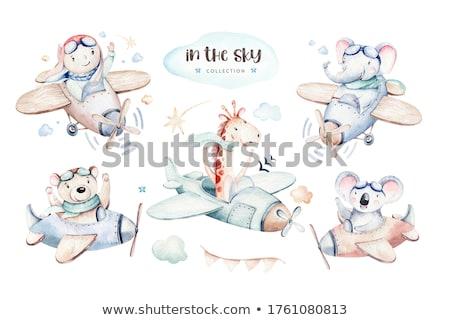 Сток-фото: небе · сцена · бумаги · иллюстрация · облака