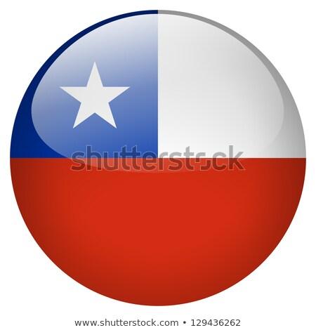 Stock fotó: Chile · zászló · matrica · illusztráció · háttér · fehér