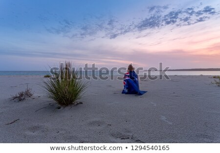 waiting for sunrise in the cool morning hues of dawn stock photo © lovleah