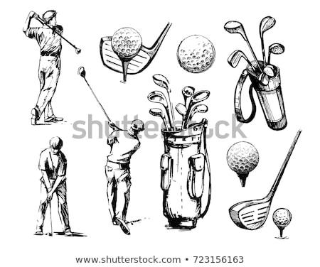 vektor · golf · zászló · végtelenített · minta · fekete - stock fotó © rastudio