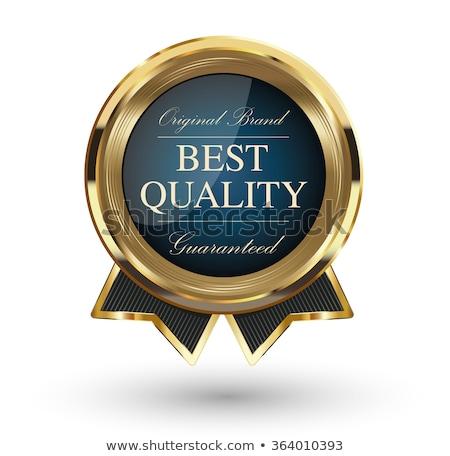 prime · marque · élevé · qualité · or · étiquettes - photo stock © robuart