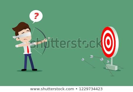 目隠し ビジネスマン 選ぶ マーク 手 ストックフォト © ra2studio