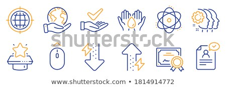 Office Document and Arrows Pointers Set Vector Stock photo © robuart