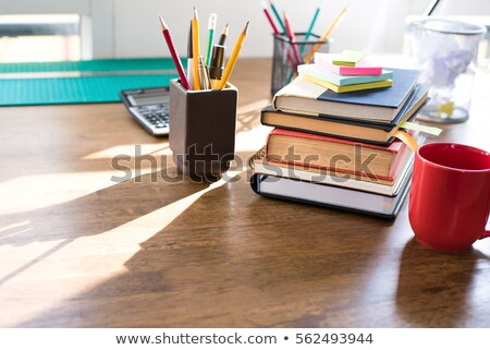 Stack of Books and Stationery Supplies Stock photo © make