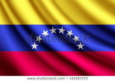 Integet zászló Venezuela összes elemek rétegek Stock fotó © nazlisart