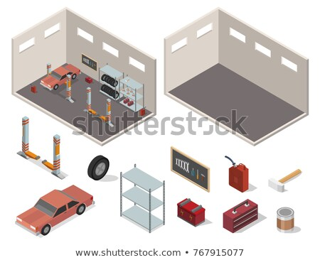 Car Wheel Set in the Room Stock photo © make