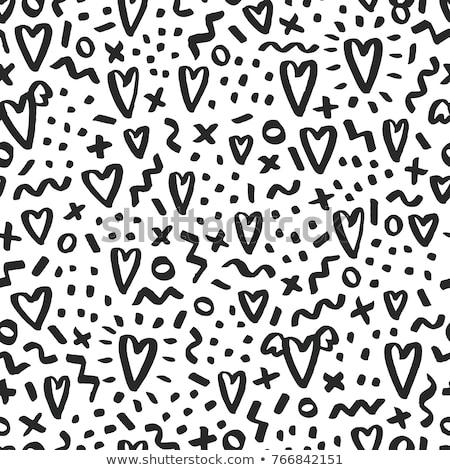 Fekete ecset stílus alkat illusztráció rajzolt Stock fotó © Blue_daemon