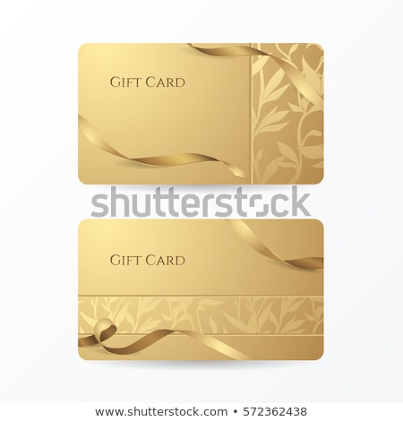 Dorado tarjeta de regalo vale plantilla prima regalo Foto stock © orson