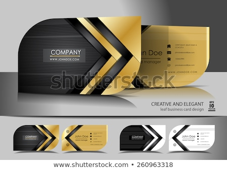 professional elegant business card design template Stock photo © SArts