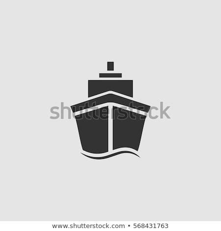 buque · de · vapor · imagen · vintage · aislado · blanco · mar - foto stock © robuart