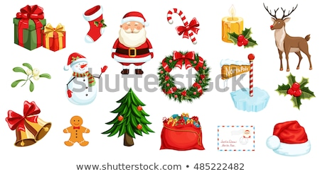 Candy and Mistletoe with Candle and Santa Socks Stock photo © robuart