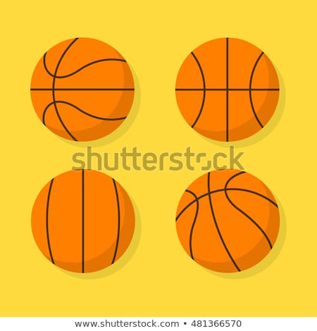 basketball flat icons set stock photo © netkov1