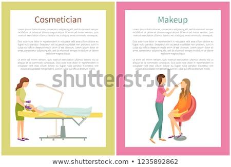 Spa Salon Visagiste Makeup and Cosmetician Vector Foto stock © robuart