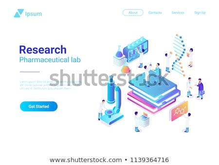 isometric flat vector concept of genetic engineering stock photo © tarikvision