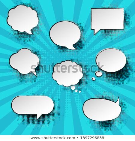 Nane bağbozumu konuşma balonu poster güneş dizayn Stok fotoğraf © cammep