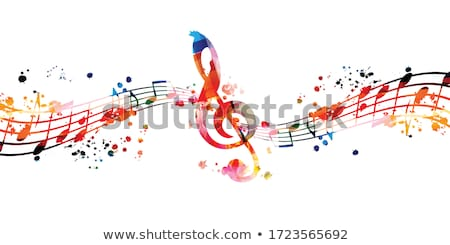 colorful music notes banner Stock photo © alexaldo