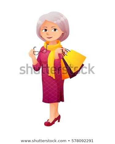 érett · üzletasszony · idős · üzlet · nők · néz - stock fotó © lenm