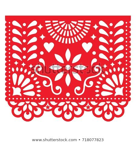 Mayonesa tarjeta mexicano papel corte arte Foto stock © cienpies