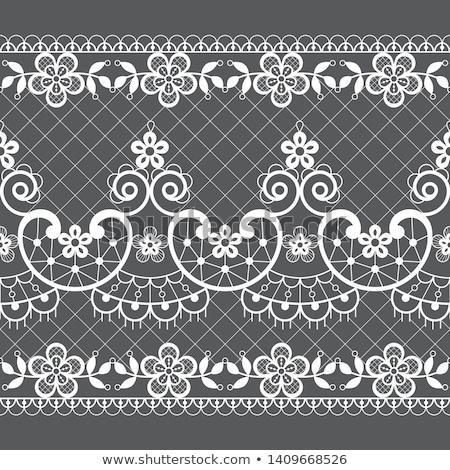 Naadloos kant vector patroon retro stijl Stockfoto © RedKoala