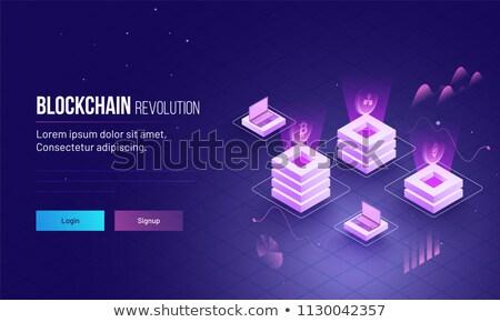 Technological revolution concept landing page. Stock photo © RAStudio